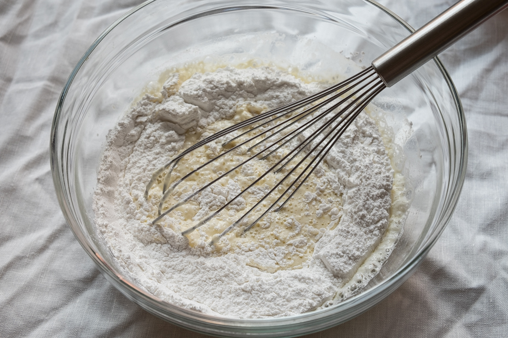 Mochi Cake Wet Ingredients With Mochi Flour